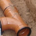 Drainage pipe in the ground